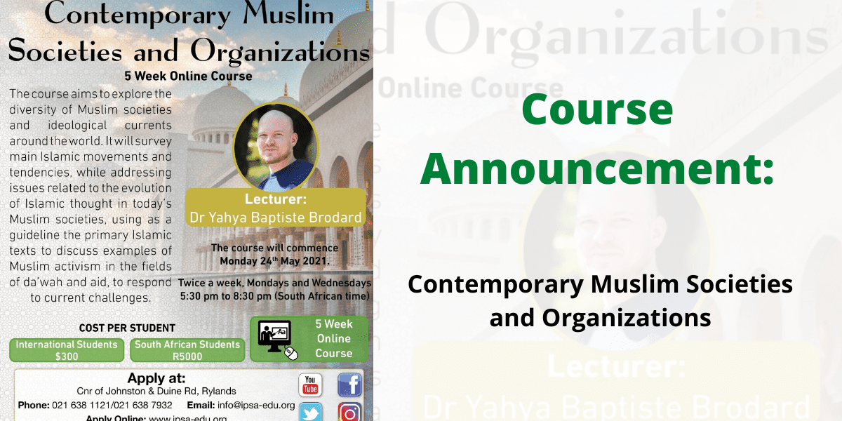 Muslim societies and organizations yahya brodard